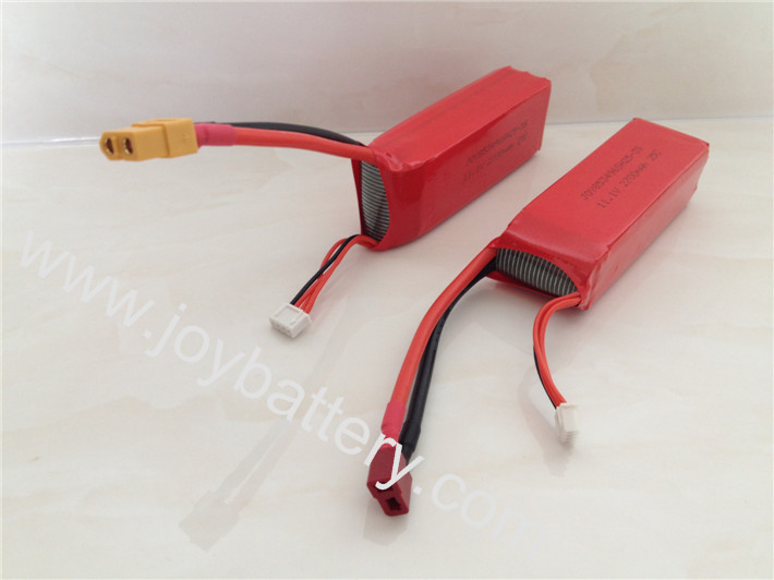 853496 11.1V 2700mAh 3S1P rc helicopter battery with T connector for airplane helicopter
